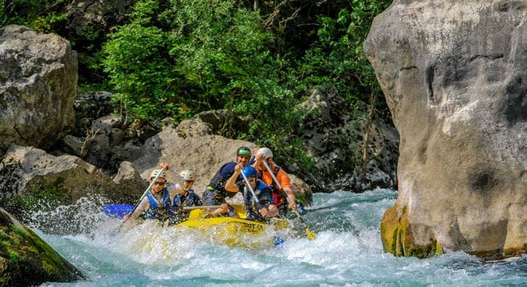 Rafting on Cetina river