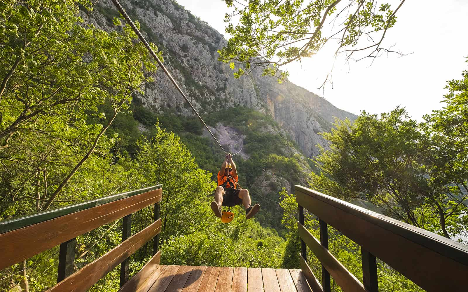 Zip Line Over Cetina River
