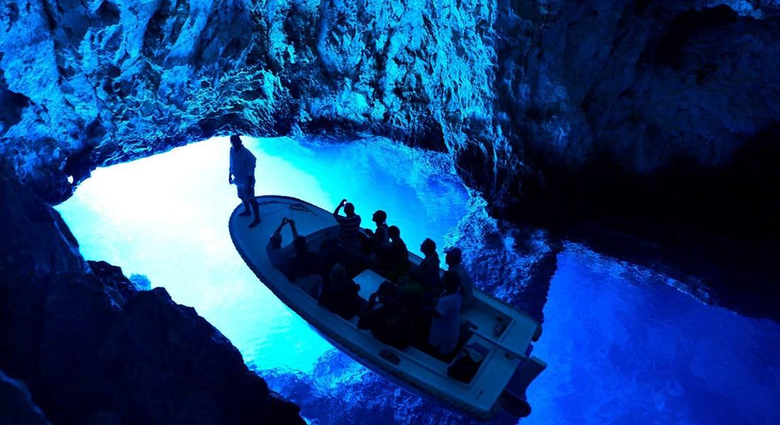 Blue cave inside