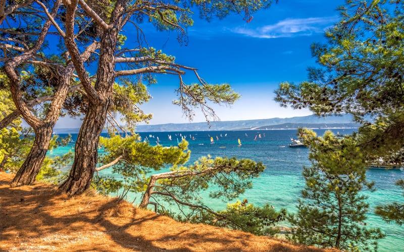 Beautiful nature on Brac island