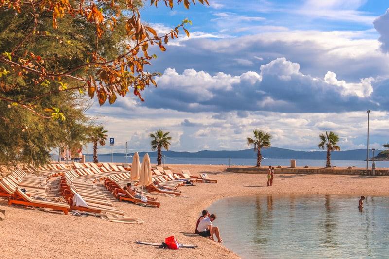 Public beach in Split city