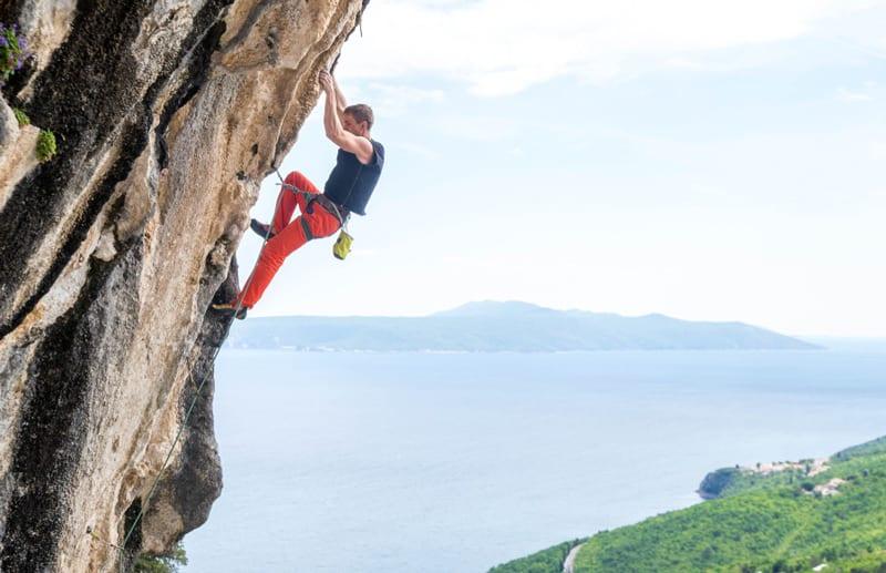 Rock climbing in Split