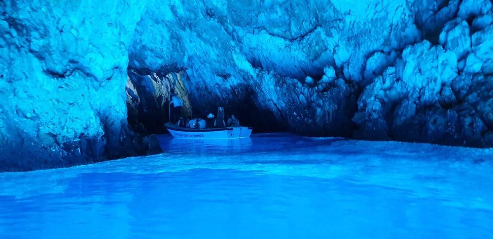 inside the blue cave croatia